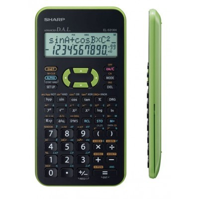 Sharp EL-531X-GR Színes tudományos számológép - Zöld
