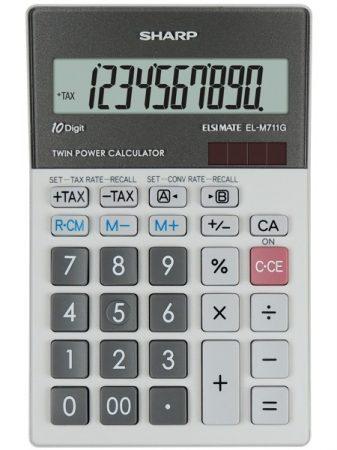 Sharp EL-M711PGGY asztali számológép