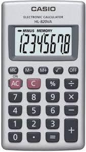 Casio HL-820VA fehér zsebszámológép